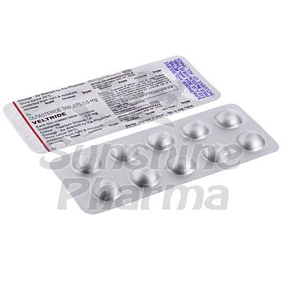 Veltride (Dutasteride) - 0.5mg (10 Tablets)
