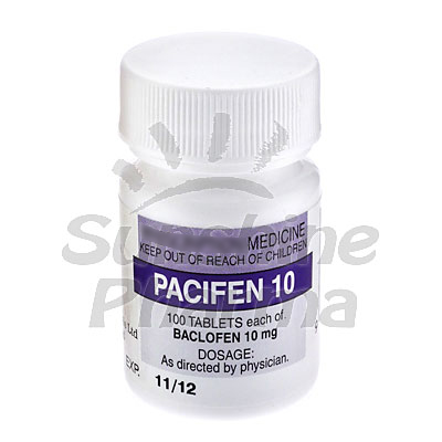 Pacifen (Baclofen) - 10mg (100 Tablets)